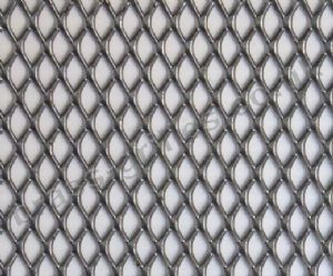 Expanded Steel Grille Mesh Silver Powder Coated 1220mm x 914mm x 1mm